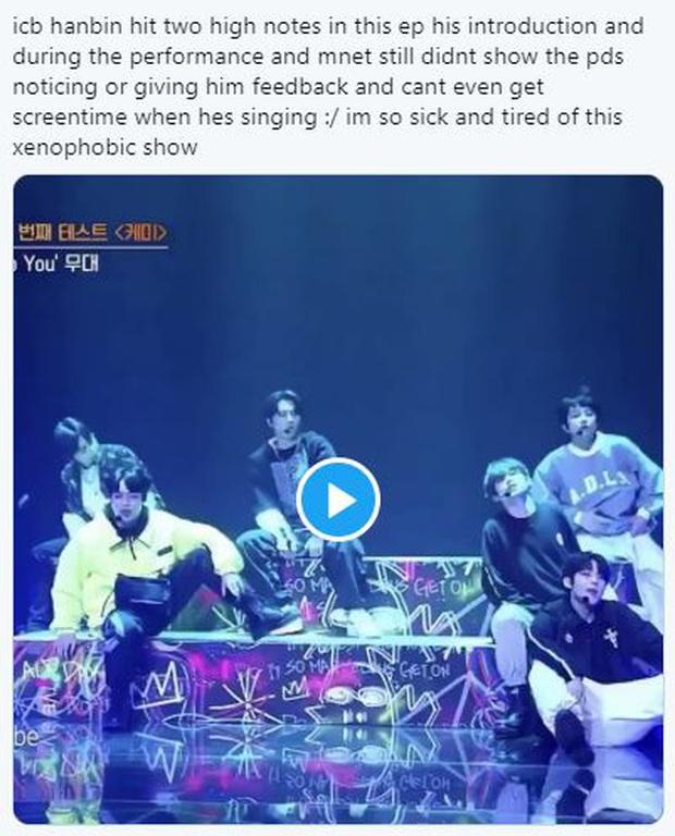 Netizen tố Mnet cắt giảm thời lượng lên hình của Hanbin (Việt Nam): Điềm báo cho việc sắp bị loại?  - Ảnh 4.