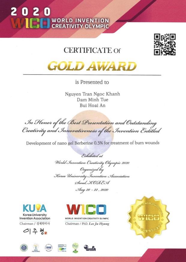 Nhóm học sinh Hà Nội giành giải Vàng ở kỳ thi Olympic Phát minh và Sáng tạo Khoa học thế giới 2020 - Ảnh 2.