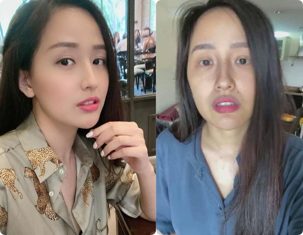 Sao Việt trước và sau khi trang điểm: Người lấm tấm mụn và quầng thâm, người có làn da đẹp mịn mướt - Ảnh 1.