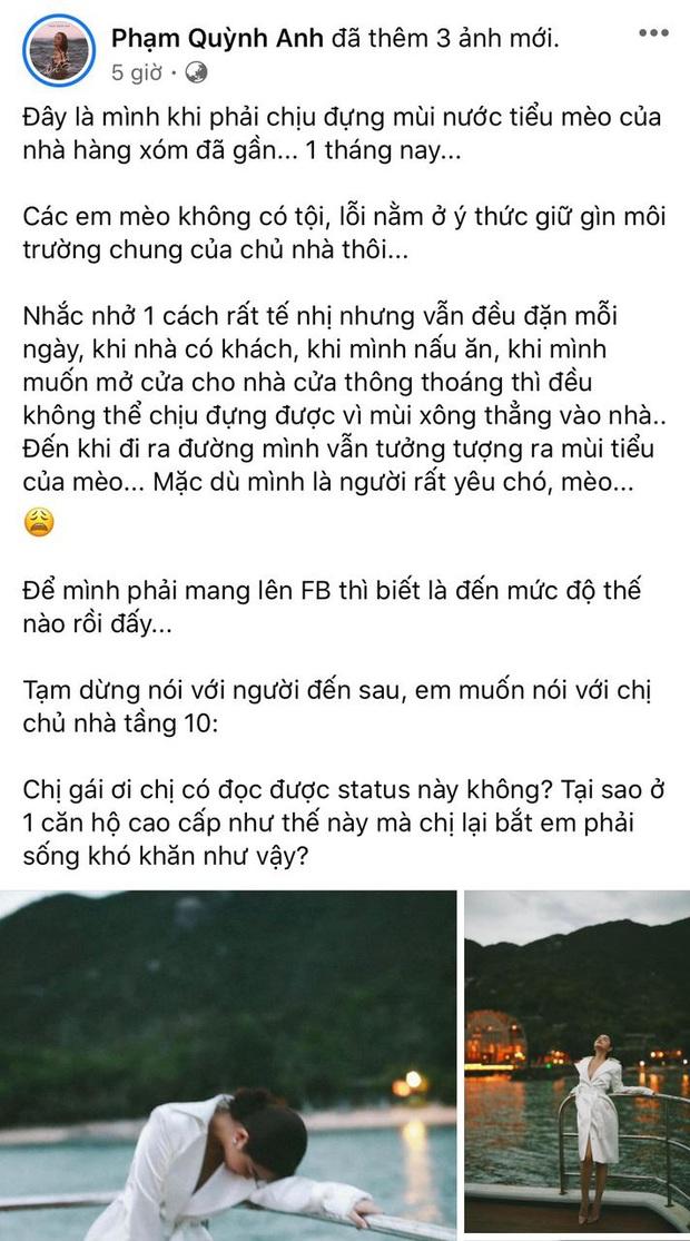 Phạm Quỳnh Anh ám ảnh 1 tháng nay vì hàng xóm có hành động mất vệ sinh, giờ phải đăng đàn dằn mặt vì không chịu nổi - Ảnh 2.