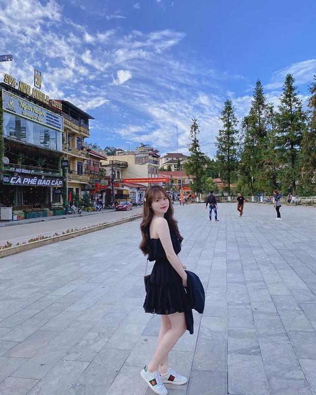 Huỳnh Anh diện váy xinh điệu đà đi du lịch, tiết lộ bị sút cân và gầy đi trông thấy sau vụ giận dỗi với Quang Hải - Ảnh 1.
