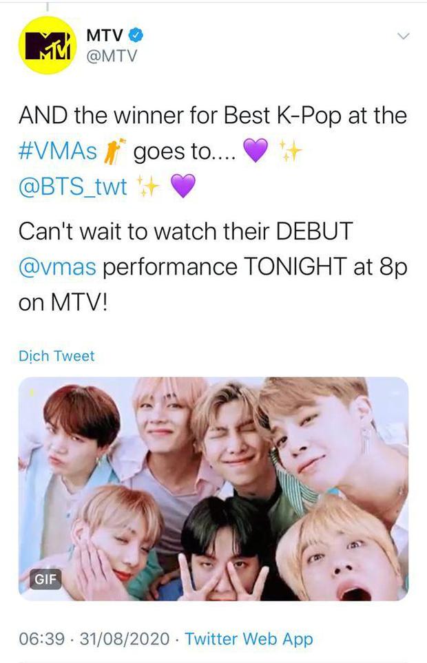 BTS chiến thắng Best Kpop và Best Group quá dễ dàng, BLACKPINK là nhóm nữ Kpop đầu tiên có giải tại MTV VMAs! - Ảnh 3.