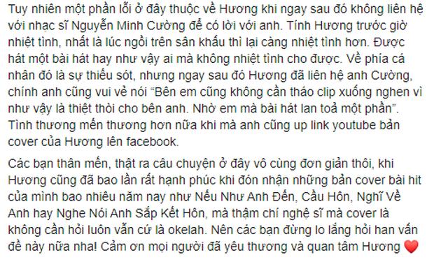 Văn Mai Hương làm rõ lùm xùm bị tố cover Hoa Nở Không Màu trái phép, còn cho biết nghệ sĩ khác hát hit của mình không cần hỏi vẫn okelah - Ảnh 2.