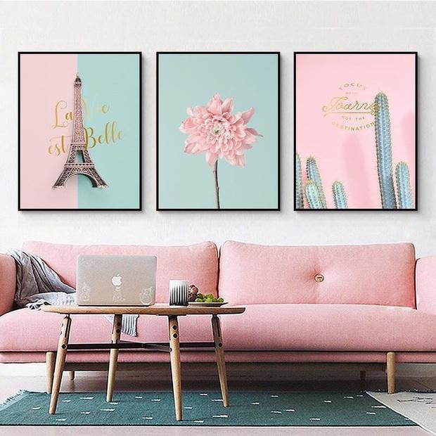 Muốn căn phòng của mình xịn sò như ảnh trên Pinterest, hội mê decor nhất định phải sắm một bộ tranh treo tường - Ảnh 9.