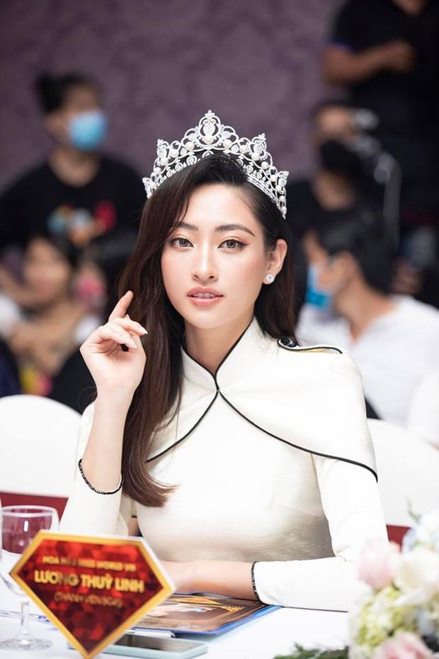 Lương Thuỳ Linh cùng 2 Á hậu kỷ niệm 1 năm đăng quang Miss World Việt Nam: Top 3 nay đã thay đổi ra sao? - Ảnh 7.