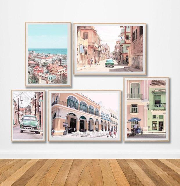 Muốn căn phòng của mình xịn sò như ảnh trên Pinterest, hội mê decor nhất định phải sắm một bộ tranh treo tường - Ảnh 1.