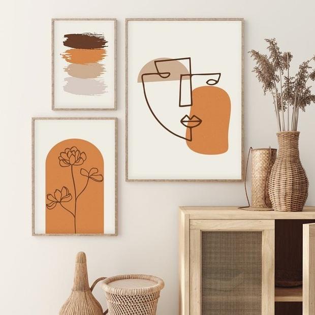 Muốn căn phòng của mình xịn sò như ảnh trên Pinterest, hội mê decor nhất định phải sắm một bộ tranh treo tường - Ảnh 17.