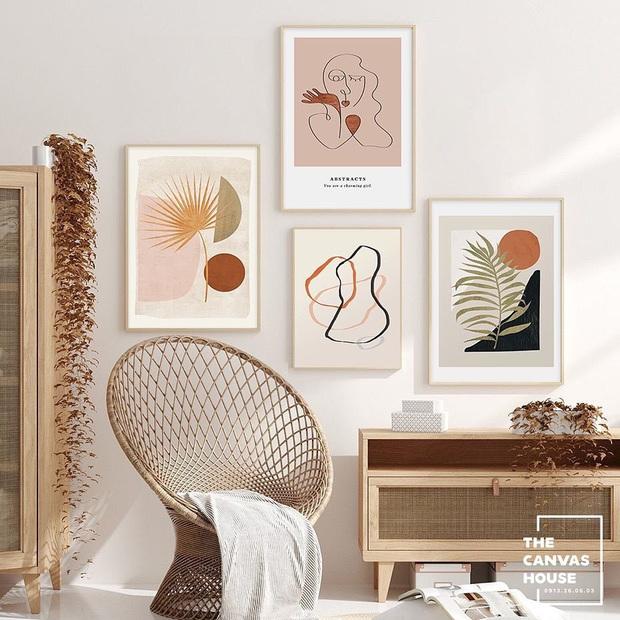 Muốn căn phòng của mình xịn sò như ảnh trên Pinterest, hội mê decor nhất định phải sắm một bộ tranh treo tường - Ảnh 7.