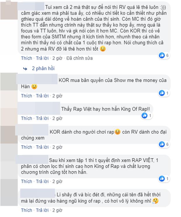 Dân mạng bàn phím chiến kịch liệt: Rap Việt nhận cơn mưa lời khen, người mê King Of Rap chê đối thủ không chất? - Ảnh 7.