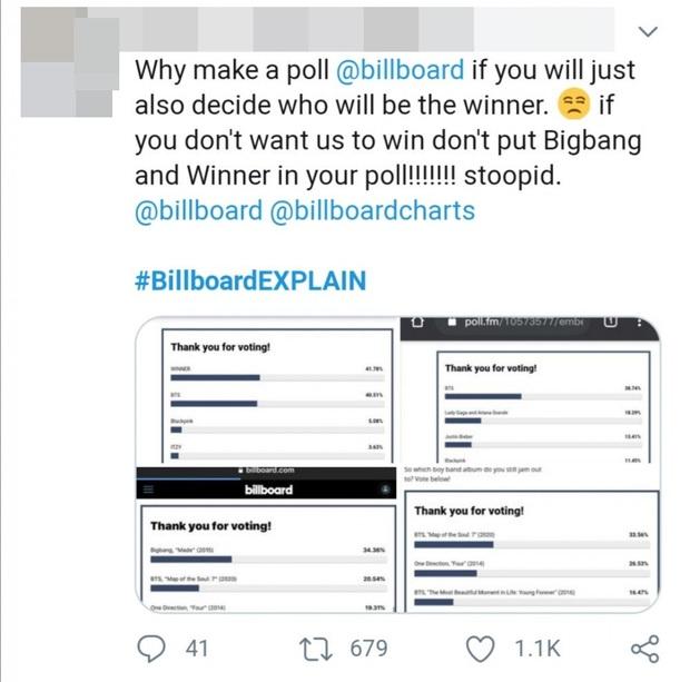 Tranh cãi: Fan BIGBANG và WINNER tố cáo Billboard can thiệp vào kết quả bình chọn để phần thắng nghiêng về phía BTS? - Ảnh 6.