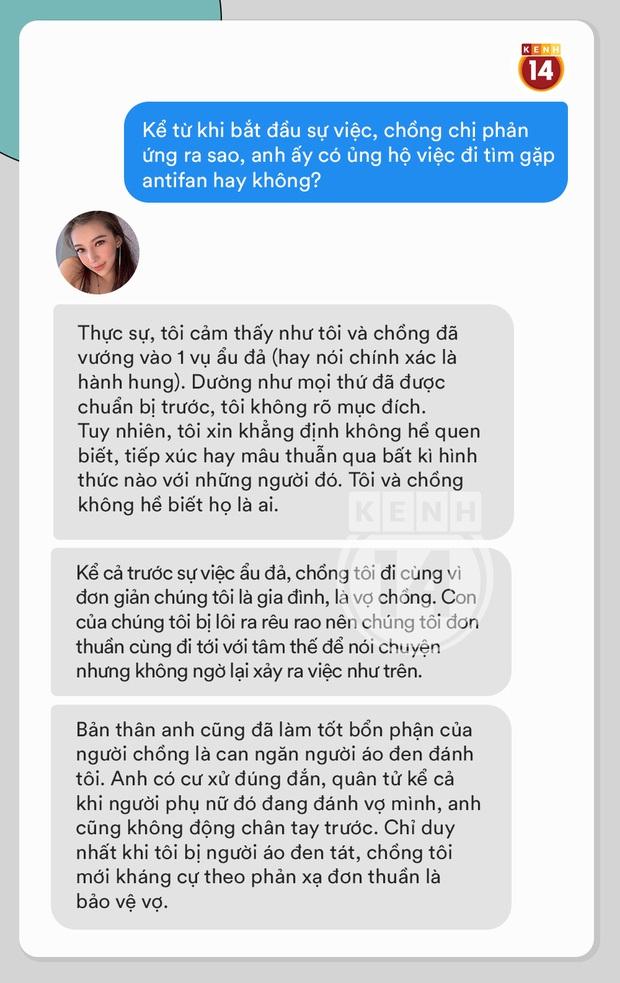 Phỏng vấn nóng Lưu Đê Ly về vụ ẩu đả ở Hàng Buồm: Vợ chồng tôi đã vướng phải vụ hành hung được chuẩn bị kỹ càng từ trước - Ảnh 8.