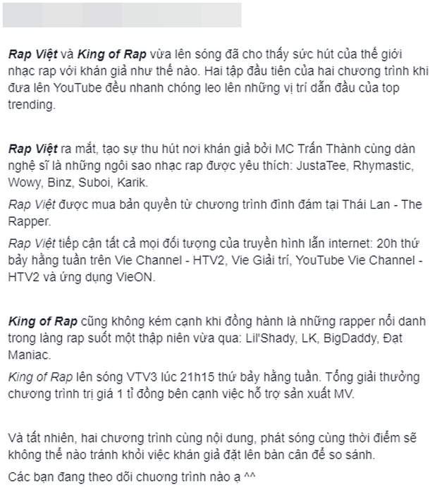 Dân mạng bàn phím chiến kịch liệt: Rap Việt nhận cơn mưa lời khen, người mê King Of Rap chê đối thủ không chất? - Ảnh 4.
