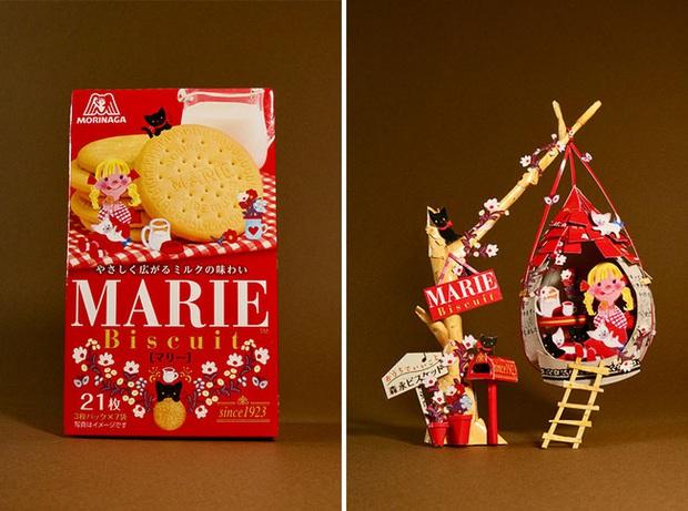 Tưởng chỉ vứt đi, bao bì bánh kẹo bỗng hóa tác phẩm nghệ thuật qua bàn tay của anh chàng Nhật - Ảnh 6.