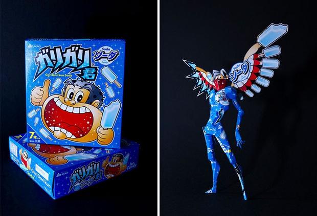 Tưởng chỉ vứt đi, bao bì bánh kẹo bỗng hóa tác phẩm nghệ thuật qua bàn tay của anh chàng Nhật - Ảnh 9.