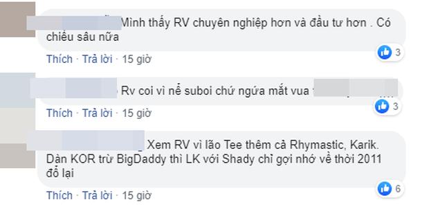 Dân mạng bàn phím chiến kịch liệt: Rap Việt nhận cơn mưa lời khen, người mê King Of Rap chê đối thủ không chất? - Ảnh 6.