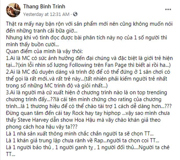 Trấn Thành có động thái mới nhất trước những tranh cãi xoay quanh việc làm MC Rap Việt - Ảnh 4.