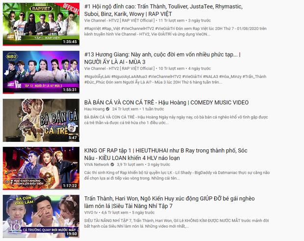 Trấn Thành xứng danh Ông trùm gameshow: 2 tuần liền có tận 6 video thống trị top trending YouTube - Ảnh 2.