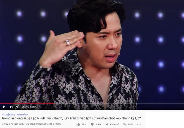 Trấn Thành xứng danh Ông trùm gameshow: 2 tuần liền có tận 6 video thống trị top trending YouTube - Ảnh 6.