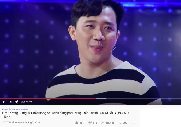 Trấn Thành xứng danh Ông trùm gameshow: 2 tuần liền có tận 6 video thống trị top trending YouTube - Ảnh 9.