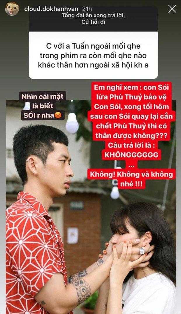 Bị fan hỏi khó về ẩn tình với Tuấn Trần, Khánh Vân dùng trò chơi Ma sói để hé lộ về mối quan hệ thật của cả hai - Ảnh 2.