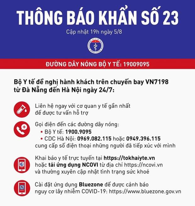 73 người ở Hà Nội bay cùng chuyến với 6 ca nhiễm Covid-19 - Ảnh 1.