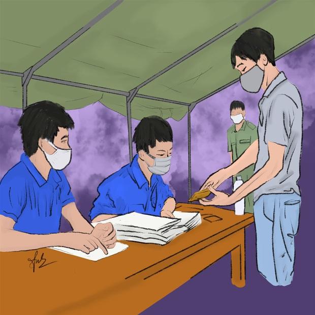 Bộ tranh gây xúc động mạnh của nữ sinh Đà Nẵng: Bất chấp virus là kẻ thù mạnh, y bác sĩ luôn là những anh hùng áo trắng - Ảnh 9.