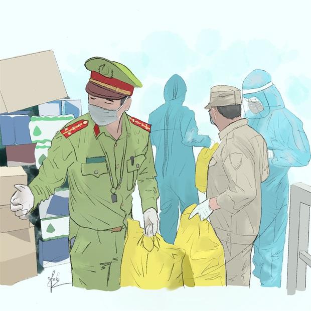Bộ tranh gây xúc động mạnh của nữ sinh Đà Nẵng: Bất chấp virus là kẻ thù mạnh, y bác sĩ luôn là những anh hùng áo trắng - Ảnh 8.