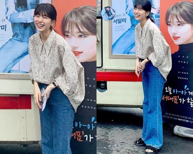 Cùng 1 chiếc áo oversize, Suzy bày cho các nàng 2 chiêu ăn diện xinh xẻo, ai cũng áp dụng được - Ảnh 2.