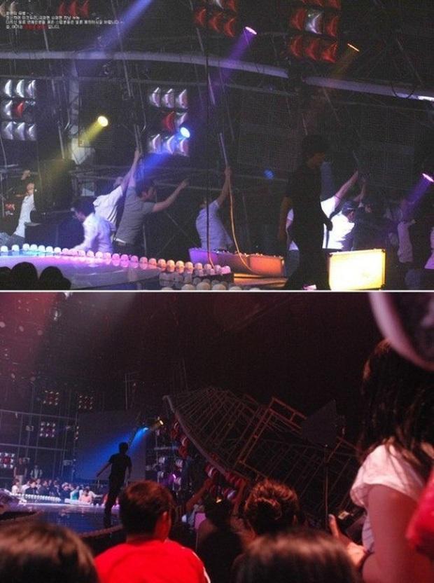 Những tai nạn sân khấu kinh hoàng của gà nhà SM: Krystal ngã quỵ phải nhập viện, Wendy rơi từ độ cao 2.5m trọng thương nhưng bị SBS thờ ơ - Ảnh 5.