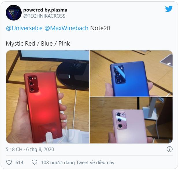 Không chỉ màu đồng ánh kim quyến rũ, Samsung sẽ còn ra mắt Galaxy Note20 màu đỏ, xanh dương và hồng? - Ảnh 1.