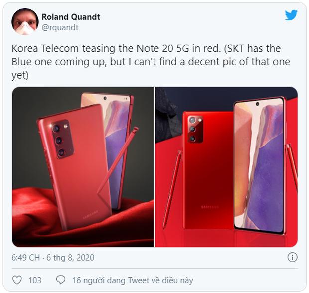 Không chỉ màu đồng ánh kim quyến rũ, Samsung sẽ còn ra mắt Galaxy Note20 màu đỏ, xanh dương và hồng? - Ảnh 2.
