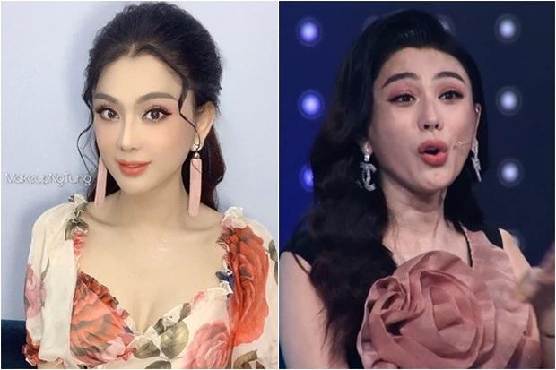 Nhan sắc thật của Lâm Khánh Chi lộ rõ trên sóng truyền hình: Dụi mắt 3 lần vẫn chưa tìm ra điểm chung! - Ảnh 3.