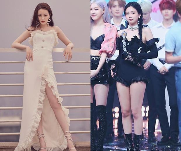 Những pha đọ visual nảy lửa giữa Jennie - Địch Lệ Nhiệt Ba: Đụng từ trang phục cho đến kiểu tóc, khó phân định ai đẹp hơn - Ảnh 3.