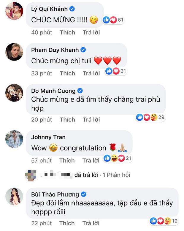 Hoa hậu Khánh Vân, Á hậu Thuý Vân, NTK Đỗ Mạnh Cường... chúc mừng Hương Giang nên duyên với CEO Matt Liu - Ảnh 2.