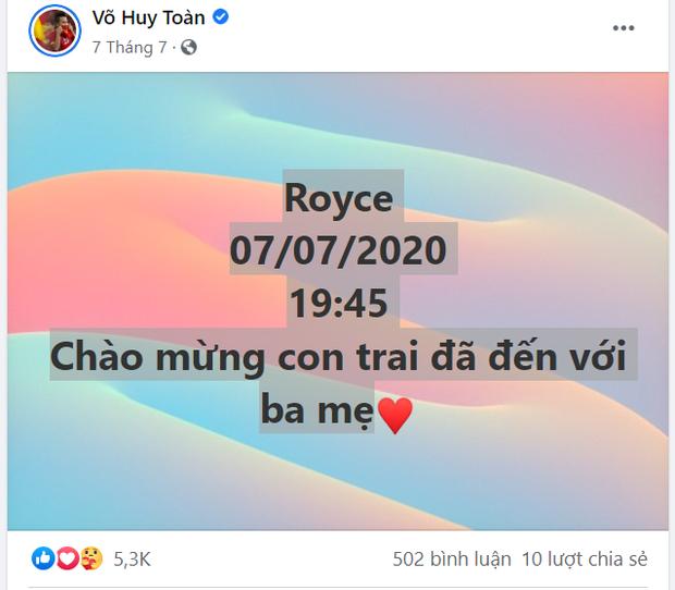 Chuyện buồn của Võ Huy Toàn: Không thể về Đà Nẵng vào ngày đầy tháng của con trai vì dịch bệnh - Ảnh 1.