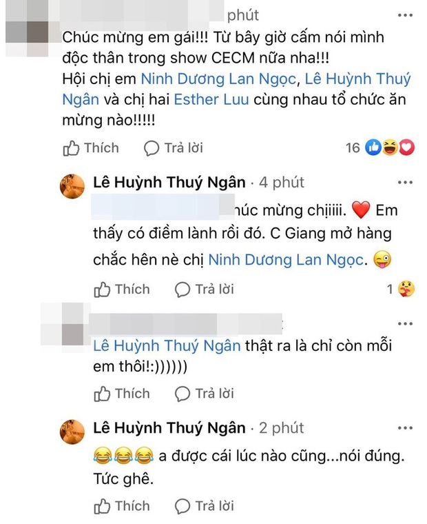 Vào chia vui với Hương Giang nhưng Thuý Ngân lại lỡ miệng tiết lộ Ninh Dương Lan Ngọc là hoa có chủ? - Ảnh 2.