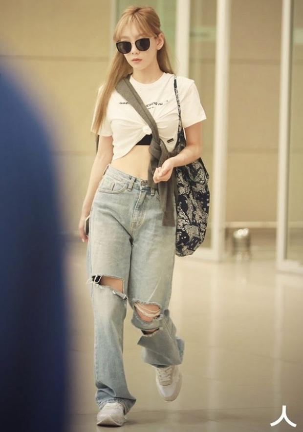 Sao Hàn có đến 8 chiêu nâng tầm sang xịn cho quần baggy jeans, copy theo thì style của bạn cũng thăng điểm tức thì - Ảnh 7.