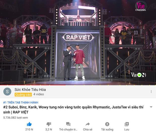 Đen Vâu chính thức gục ngã trước dàn Rap Việt, hết cửa nối tiếp thành tích bất bại top 1 trending YouTube? - Ảnh 4.