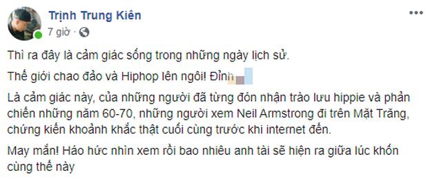 Nam nhạc sĩ sáng tác bản hit top 1 trending cho Chi Pu quá xúc động trước Rap Việt và King Of Rap, gọi đây là những ngày lịch sử - Ảnh 2.