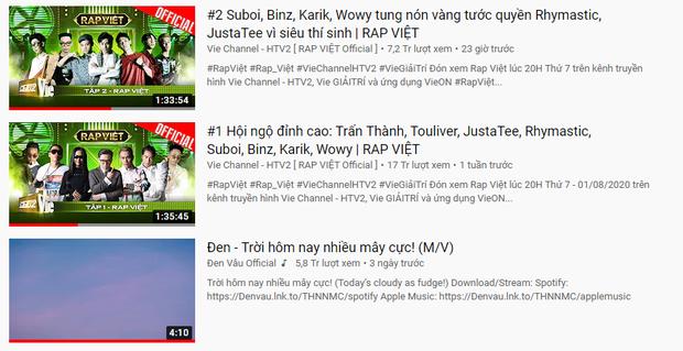 Đen Vâu chính thức gục ngã trước dàn Rap Việt, hết cửa nối tiếp thành tích bất bại top 1 trending YouTube? - Ảnh 5.