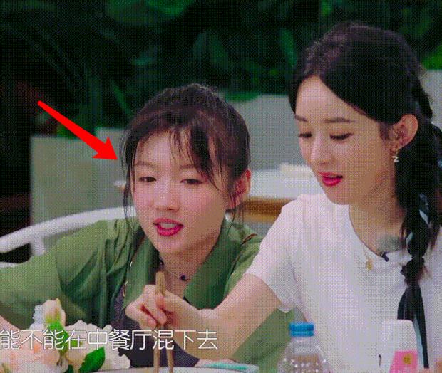 Triệu Lệ Dĩnh gây tranh cãi vì thói quen mất vệ sinh khi ăn cơm, Cnet soi thái độ của Huỳnh Hiểu Minh và đồng nghiệp - Ảnh 4.