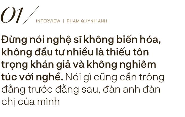 Phạm Quỳnh Anh: Đừng nhầm lẫn cống hiến bằng tiền thì mới là tận tâm với nghề, còn ít tiền là lỗi thời - Ảnh 2.