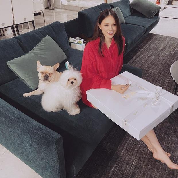 Linh Rin khoe được anh yêu tặng quà to bự, dân tình lại chăm chăm vào phòng khách sang chảnh - Ảnh 1.