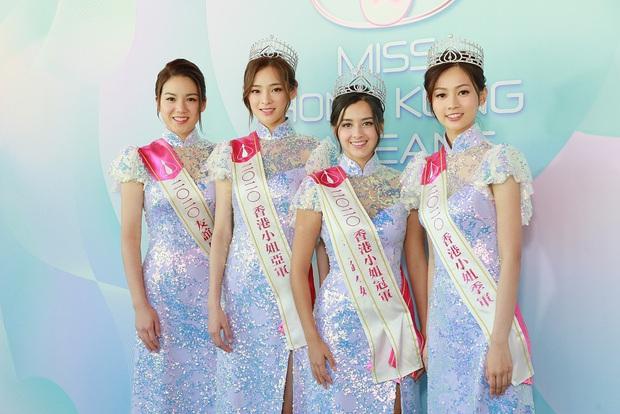 Tranh cãi khoảnh khắc tân Hoa hậu Hong Kong chiều cao hạn chế, lọt thỏm giữa dàn Á hậu trong sự kiện ra mắt đầu tiên - Ảnh 4.