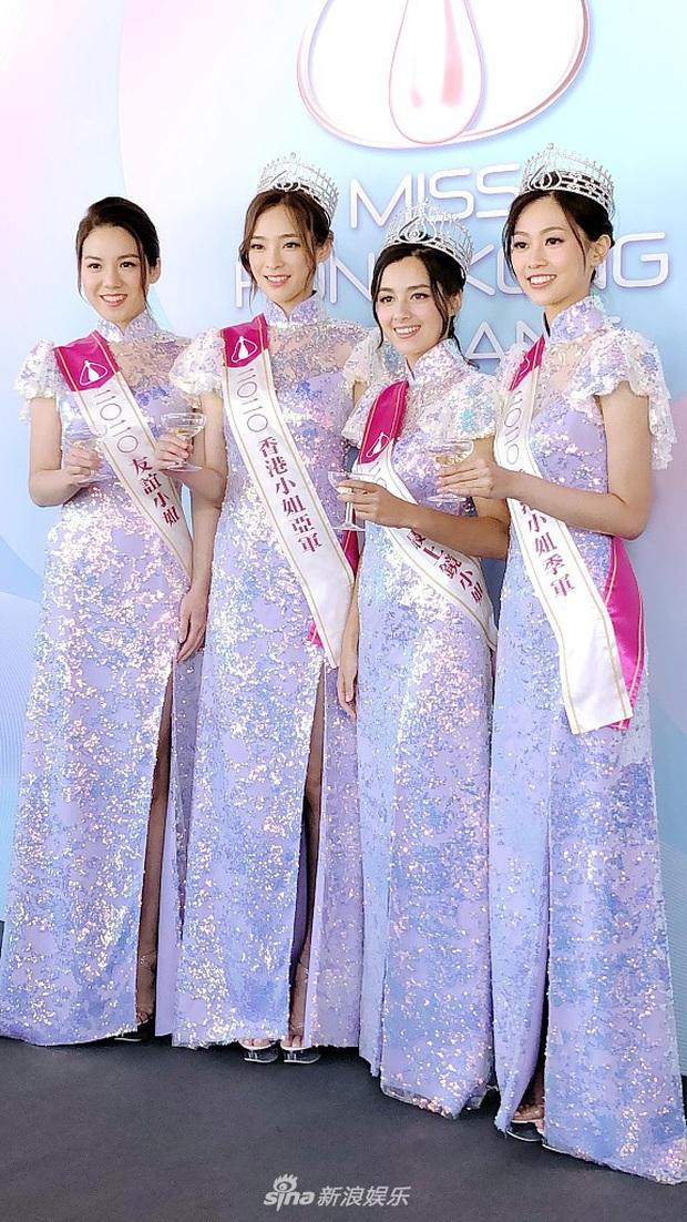 Tranh cãi khoảnh khắc tân Hoa hậu Hong Kong chiều cao hạn chế, lọt thỏm giữa dàn Á hậu trong sự kiện ra mắt đầu tiên - Ảnh 3.