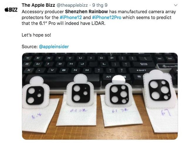Thêm thông tin về camera iPhone 12 sắp ra mắt bị rò rỉ - Ảnh 1.