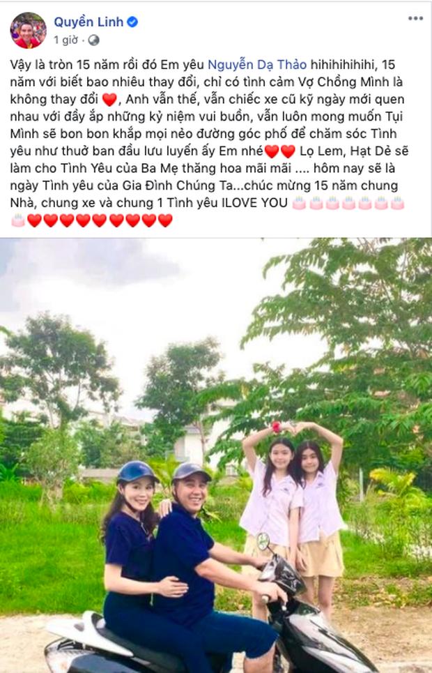 MC Quyền Linh khoe ảnh gia đình hạnh phúc kèm tâm thư gửi bà xã Dạ Thảo: 15 năm yêu nhưng vẫn lãng mạn như thuở ban đầu! - Ảnh 2.
