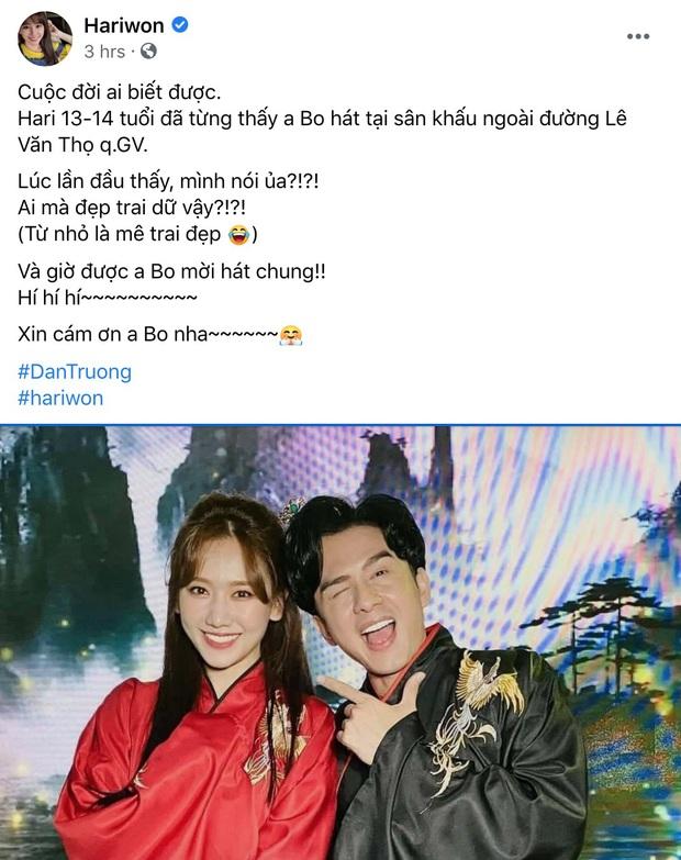 Song ca cùng Đan Trường, Hari Won phấn khích khen anh đẹp trai hơn chồng em và phản ứng của Trấn Thành gây chú ý - Ảnh 6.