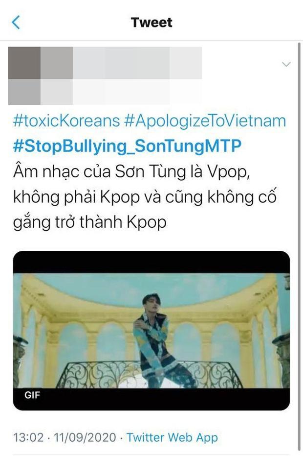 Dân mạng đẩy hashtag Dừng bắt nạt Sơn Tùng M-TP lên #1 trending Twitter Việt Nam khi một bộ phận netizen Hàn có hành động đi quá xa - Ảnh 4.