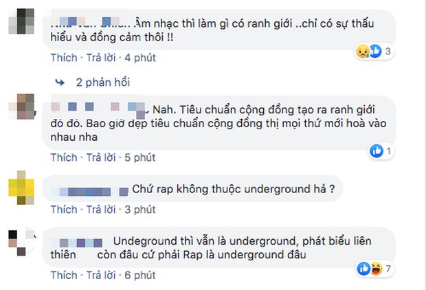 Nổ ra tranh cãi kịch liệt sau phát biểu của Trấn Thành: Rap Việt xoá nhoà ranh giới Underground và nhạc chính thống - Ảnh 6.